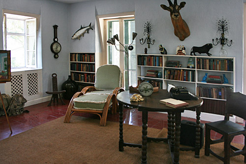 Hemingway's study in his Key West home
