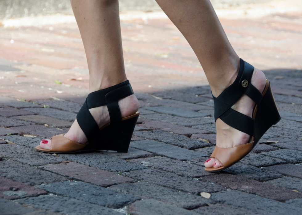 Wedge shoes for city living