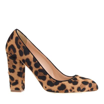 JCrew Leopard stella pumps