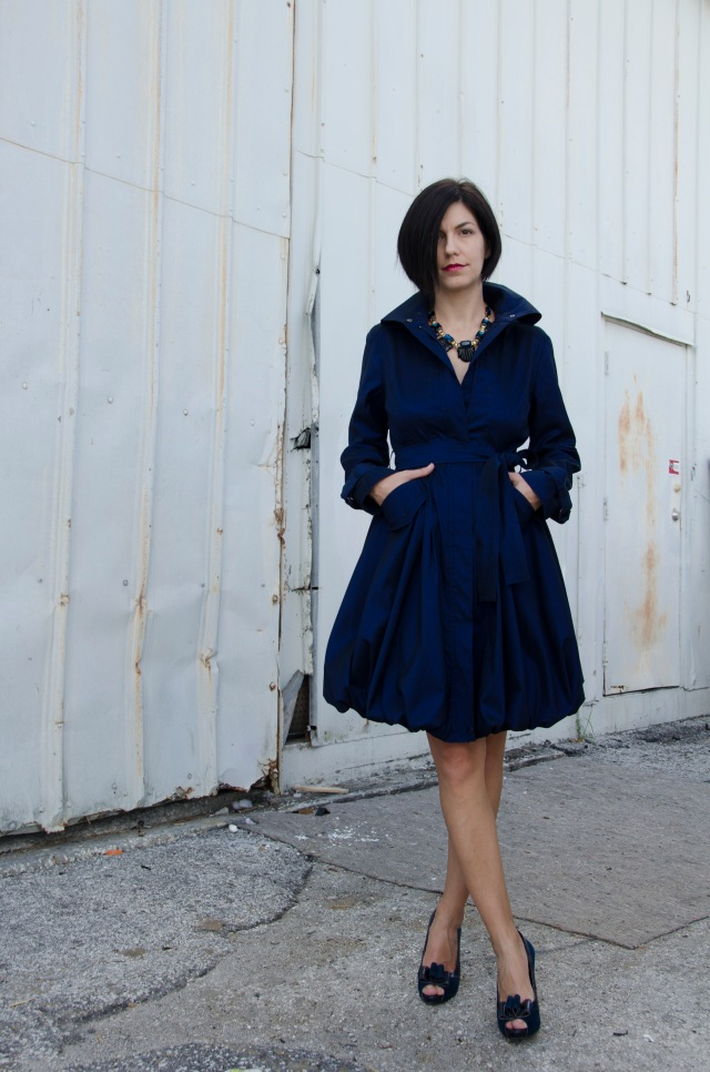 Blue Trench as a Dress