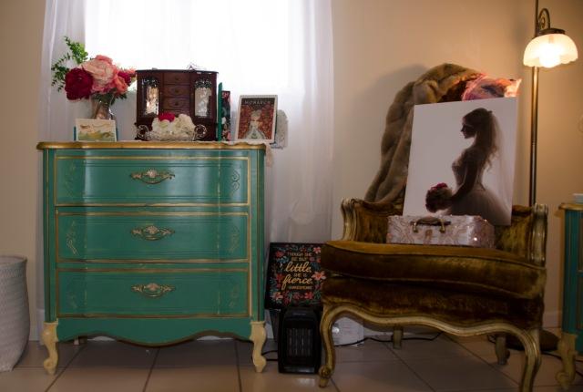 ladylike closet greeen dresser