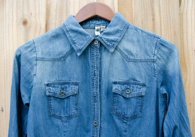 chambray pockets