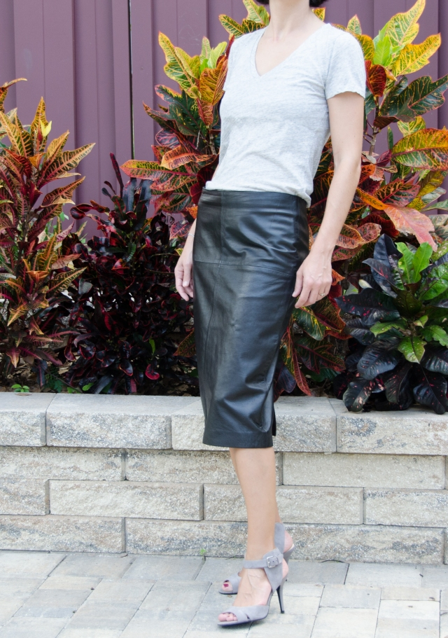 leather skirt before alterations